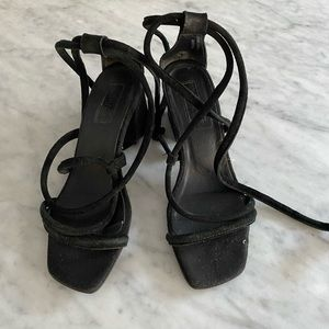 Topshop Lace Up Heeled Sandals